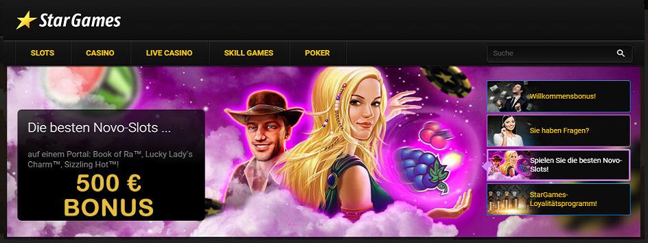 Stargames 500 € Bonus Novoline