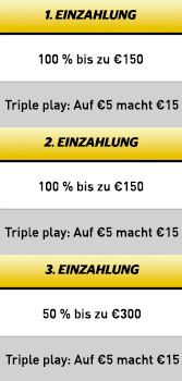 Cherry Casino Triple Bonus Angebot