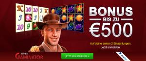 SuperGaminator Casino 500 € Bonus