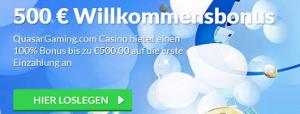Quasar 500 € Bonus