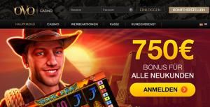 OVO Casino Willkommens Bonus Gratis