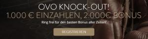 OVO Casino Knock Out Bonus