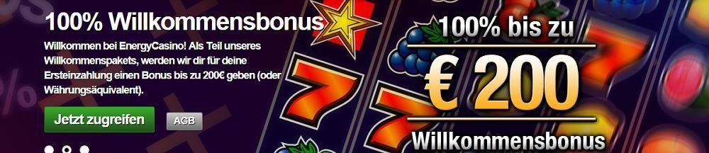 Energy Casino - 200€ Novoline Spielen, Multispftware