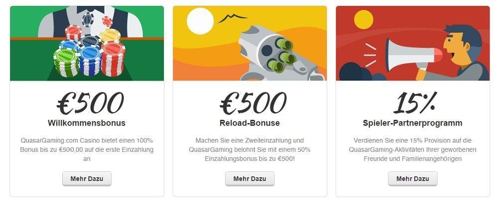 Quasar Casino Novoline Bonus bis 500€