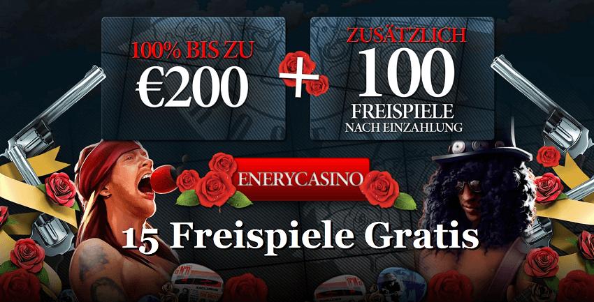 Energy Casino 15 Freispiele Gratis Bonus