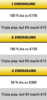 Cherry Casino Triple Bonus Angebot